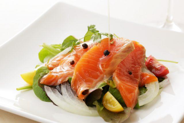 Receta 2 Salmon Marinado en limón