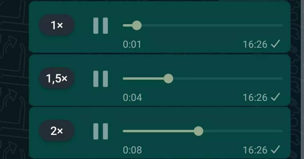 ¿Cómo usar las nuevas velocidades en los audios de WhatsApp?