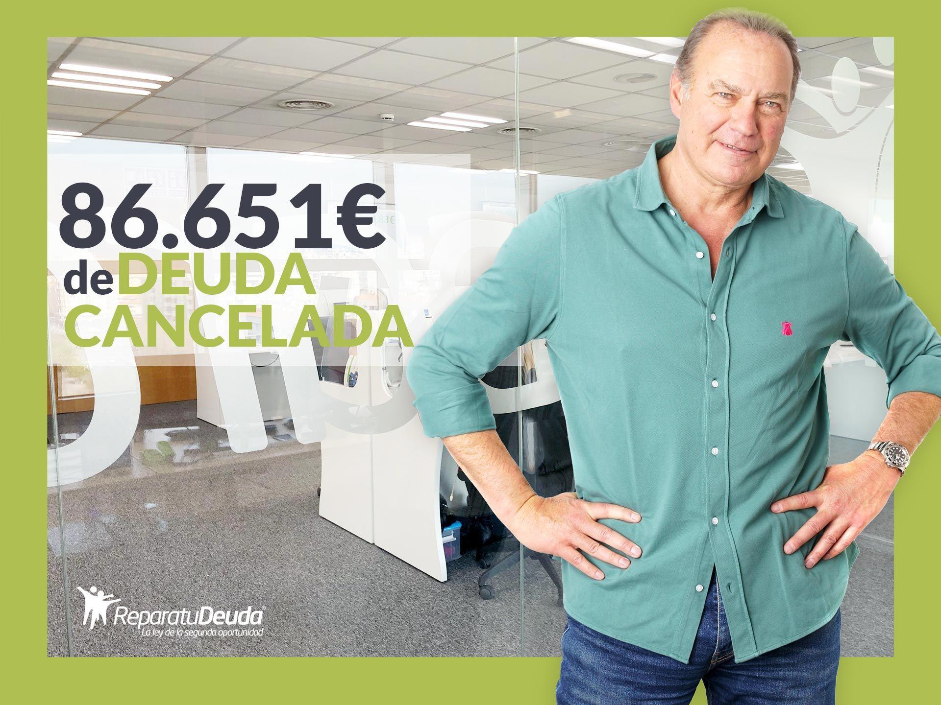 Repara tu Deuda cancela 86.651 ? en Guadalajara (Castilla-La Mancha) con la Ley de Segunda Oportunidad