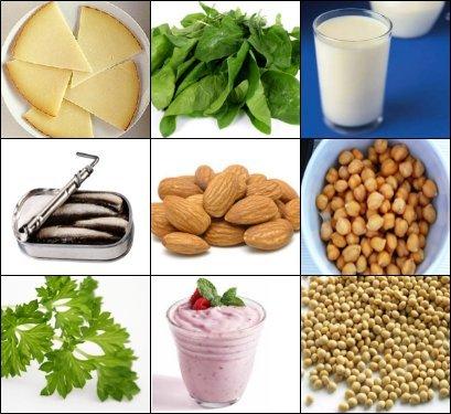 Alimentos con gran cantidad de calcio, mayor a un vaso de leche
