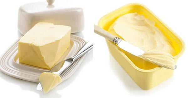 Mantequilla o la margarina
