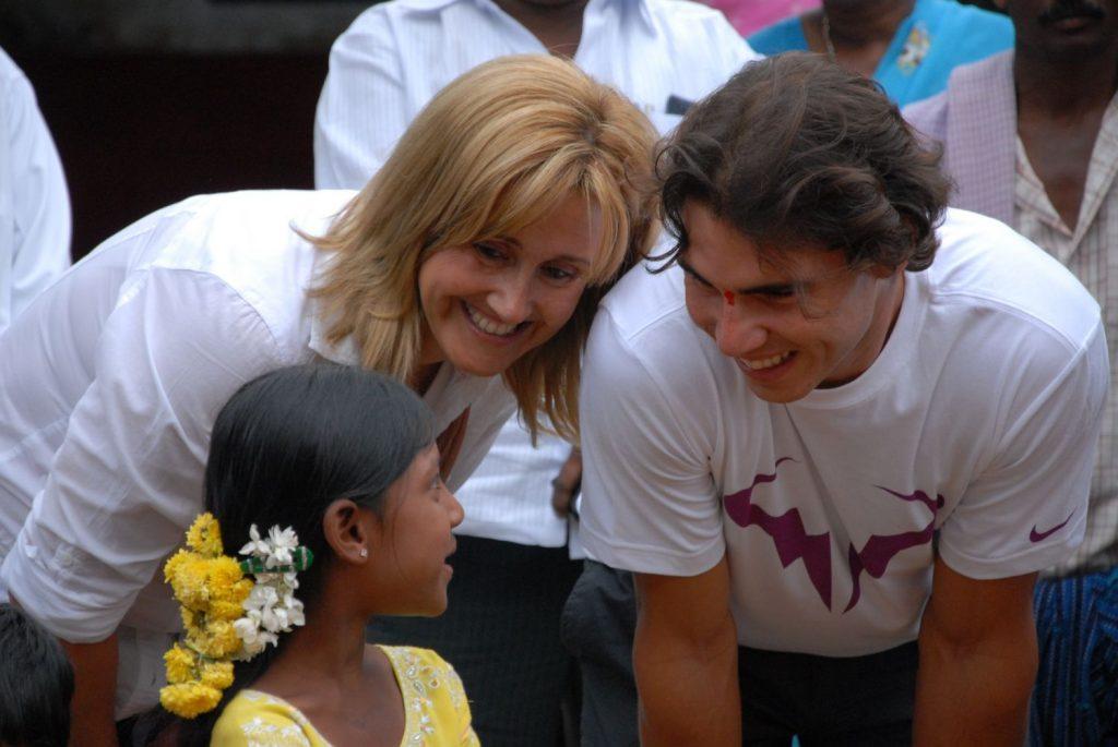 Rafa Nadal y su madre Ana María.