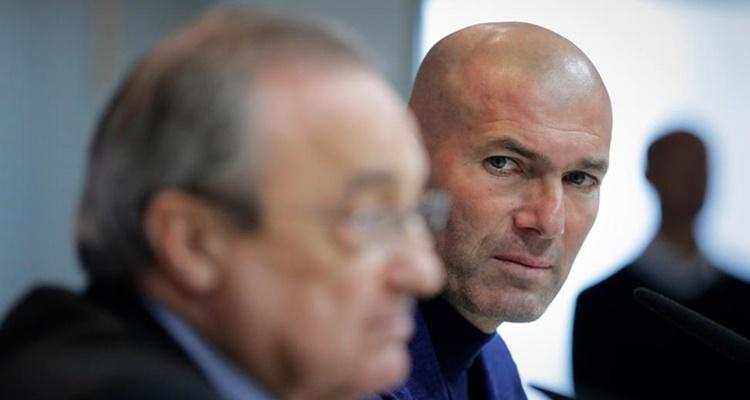 Florentino Pérez, Zidane, Real Madrid dimisión