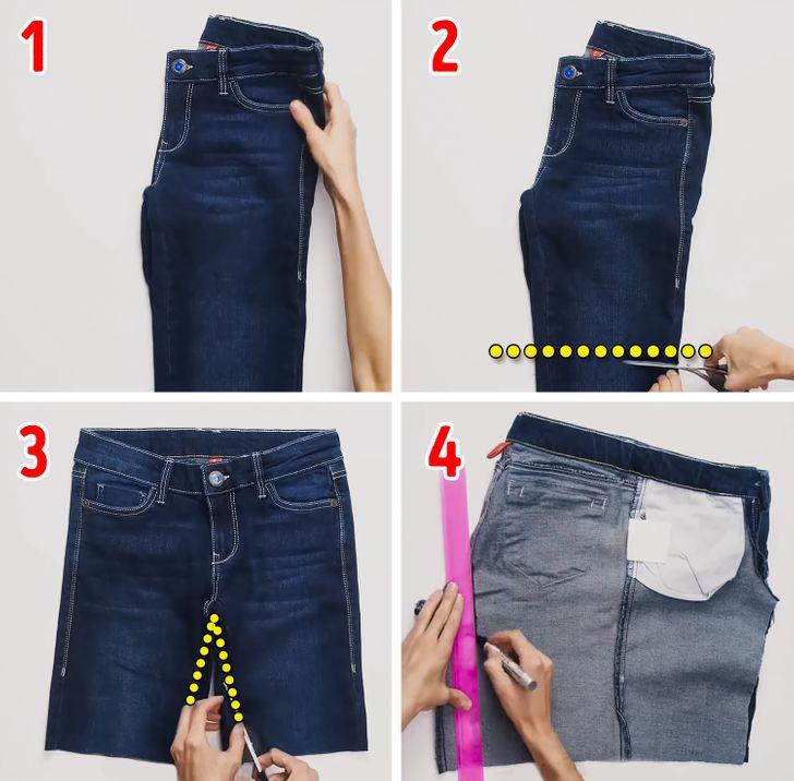 ¿Cómo convertir un pantalón en una falda en simples pasos?