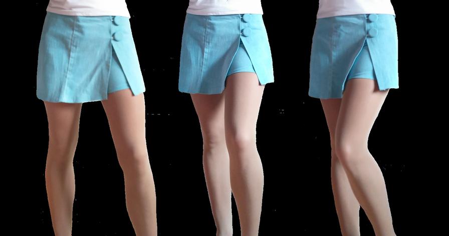 Planchar con cuidado y sin estirar el pantalón que se convertirá en falda