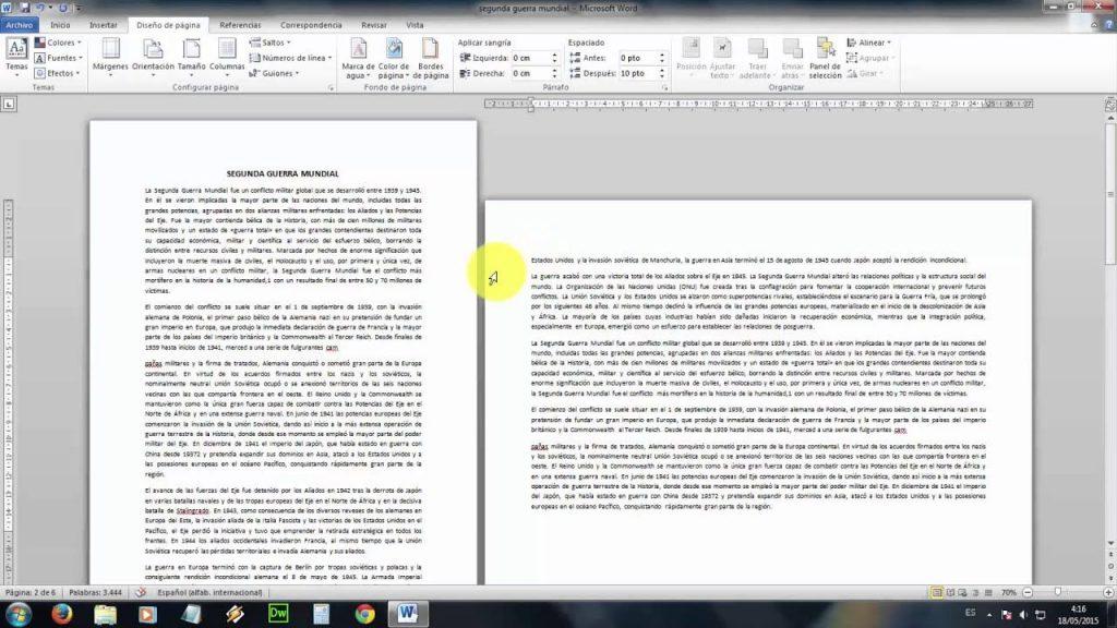 Paso a paso para hacer los cambios en un documento de Word