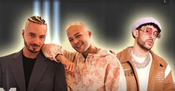 J Balvin y Bad Bunny con Nio García en 'AM Remix'