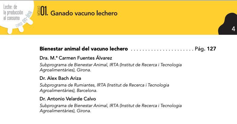 """curso online sobre la industria láctea: """"Leche: de la producción al consumo""""."""
