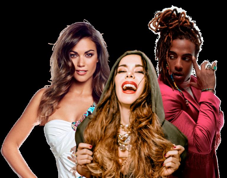 Lara Álvarez con Yotuel y Beatriz Luengo en 'Juntos Somos Más' (himno de la Eurocopa)
