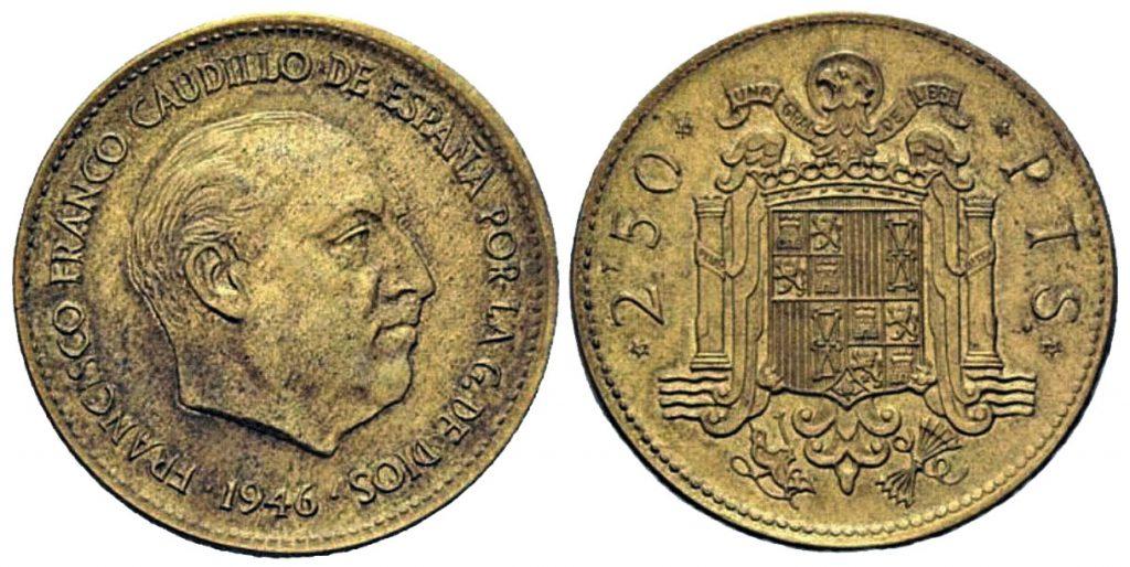 2,5 pesetas del año 1946 un verdadero golpe de suerte