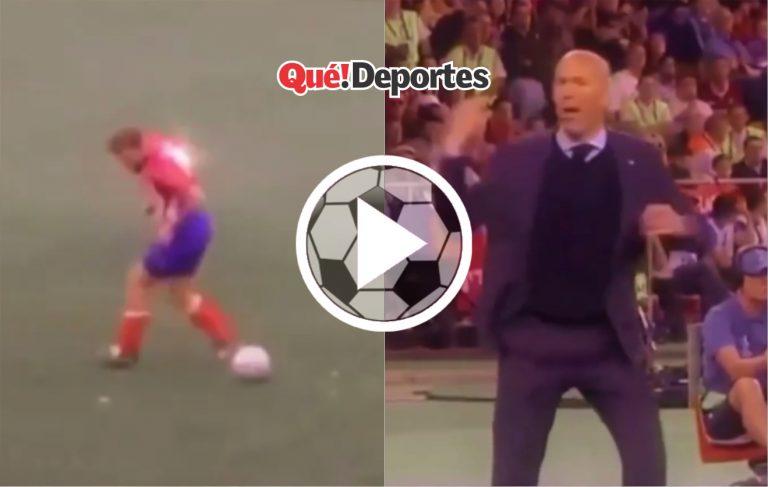 Cuando te crees crack y hasta Zidane te lo festeja