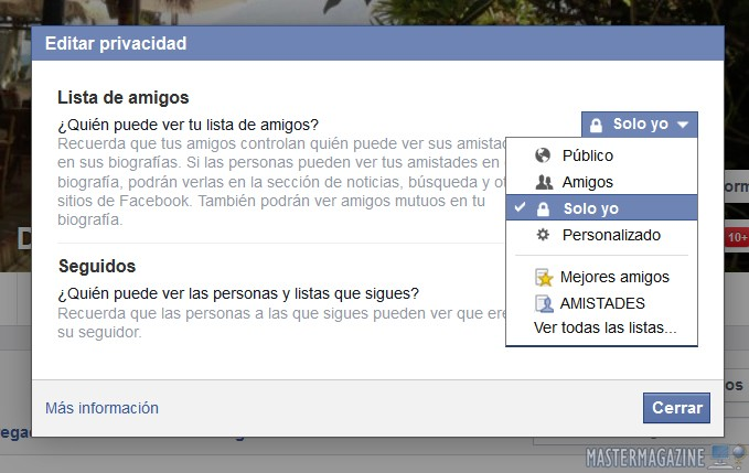 Paso a paso para ocultar la lista de amigos en Facebook