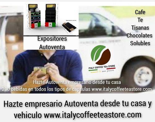 Negocio propio sin invertir: autoventa con expositores de venta de cápsulas, café, té, tisanas y chocolates