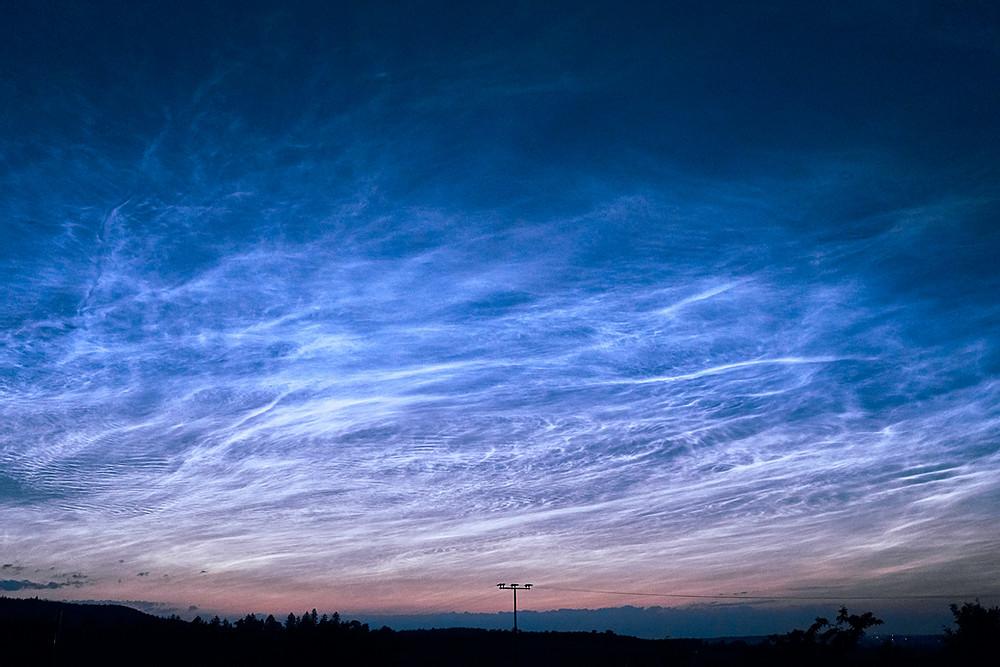 Qué son las nubes noctilucentes