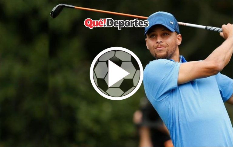 Stephen Curry las mete hasta cuando juega al golf
