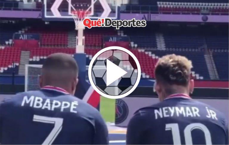 Mbappé y Neymar en un mano a mano en el baloncesto ¿Quién ganará?