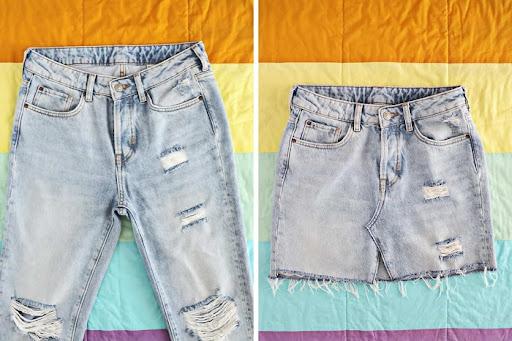 Paso a paso para convertir un pantalón ancho en una falda