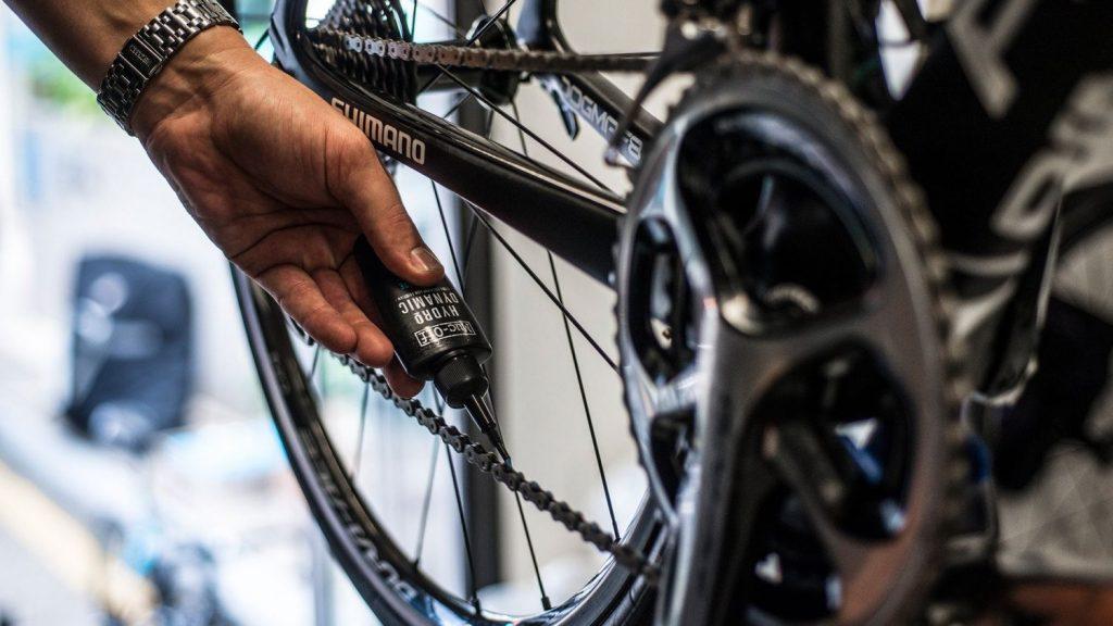 Bicicleta con mantenimiento continuo
