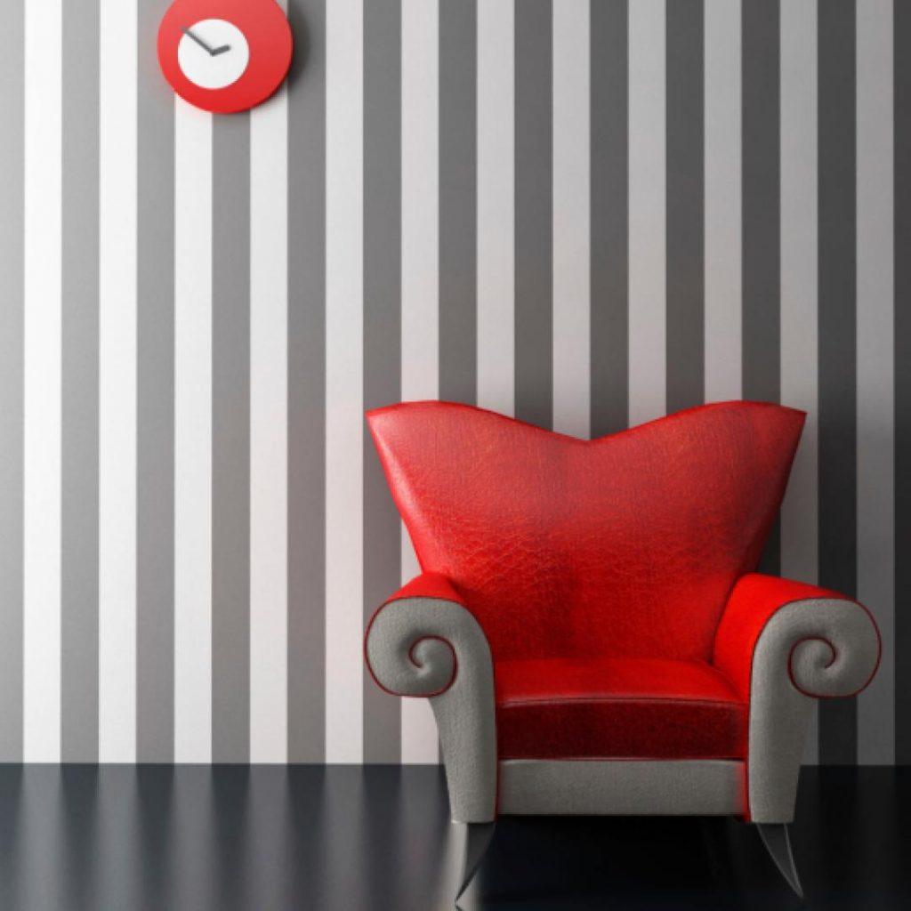 Colores que debes tomar en cuenta a la hora de pintar la pared a rayas