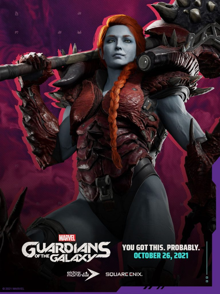 Así es Lady Infierno Marvel's Guardians of the Galaxy