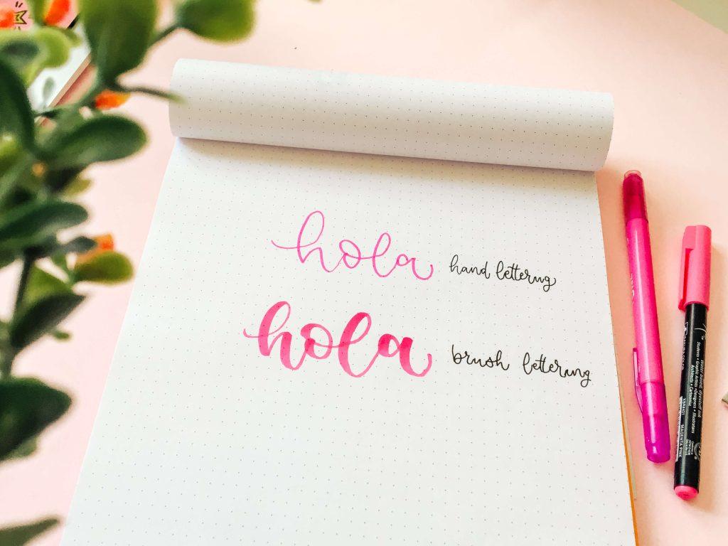 ¿El lettering es igual a la caligrafía?